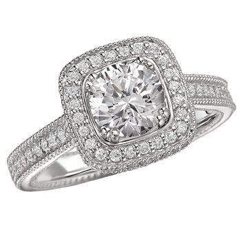 Halo Style - Cushion Cut Engagement Ring - Modesto