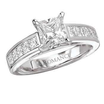 Princess Cut Engagement Ring - Channel Set - 1ct