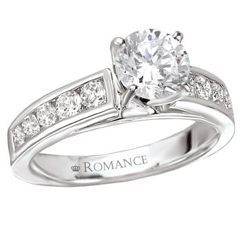 Ladies Engagement Ring - Channel Set Round Diamonds -  Romance Collection
