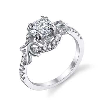Lyria Vine 18K White Gold & Diamond Engagement Ring - Parade engagement ring