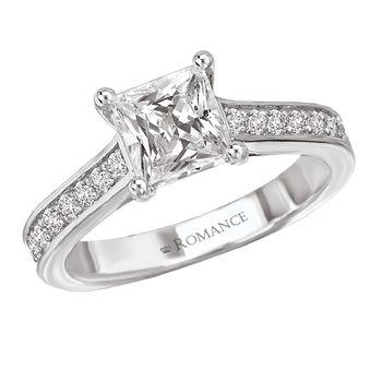 Ladies Princess Cut Engagement Ring - Romance Collection - Modesto