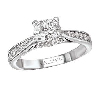 Modesto Engagement Ring - Round Center -Tapered Shank