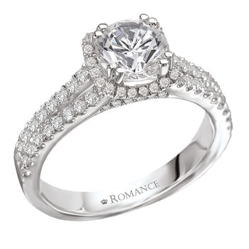 Split Shank - Halo Style - Romance Engagement Ring