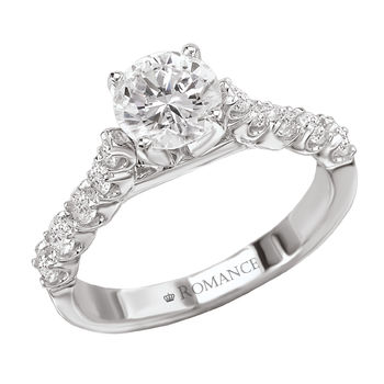 18K White Gold - Diamond Engagement Ring - Modesto