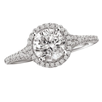 Diamond Halo Style  Engagement Ring - Romance Collection in Modesto