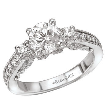 Antique Style - Ladies Engagement Ring - Scroll Design