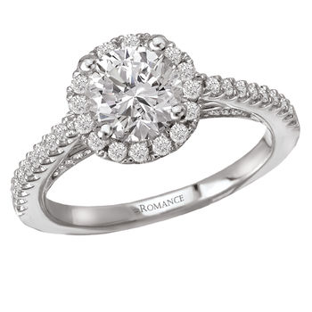 Diamond Halo - Engagement Ring - With Filigree