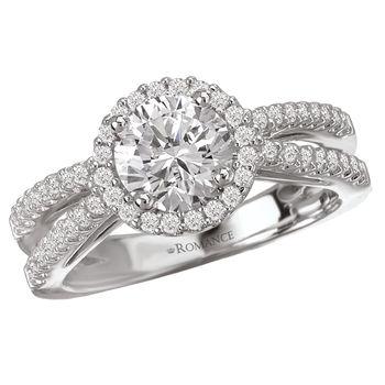 Split Band Style - Halo Engagement Ring - Modesto Engagement Rings