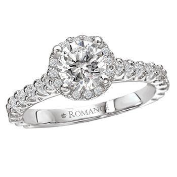 Micro Set Engagement Ring - Diamond Halo - Modesto Engagement Rings