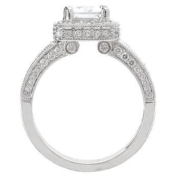 Princess Cut Engagement Ring - Diamond Halo - Modesto Engagement Rings