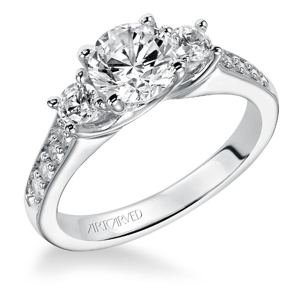 Natalia ArtCarved Diamond Wedding Band - ArtCarved Diamond Band on Sale