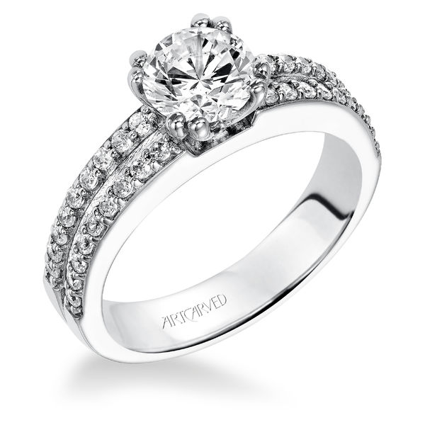 Jade Artcarved Diamond Engagement Ring - ArtCarved Engagement Ring Sale