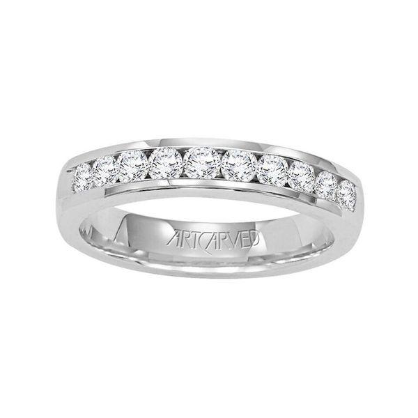 Palladium Channel Set Diamond Band - .33ct Diamond Wedding Band by ArtCarved
