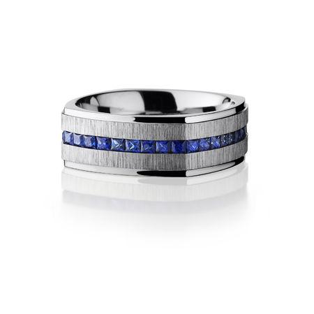 Cobalt & Blue Sapphire Eternity Band