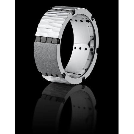 Cobalt & Black Diamond Ring