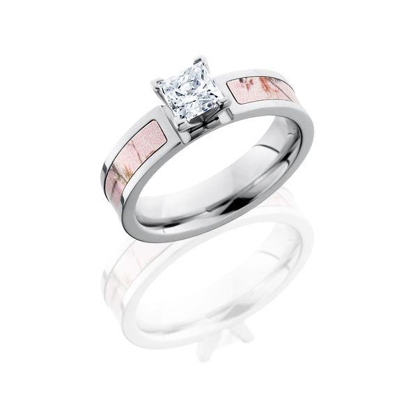 Pink Realtree Camo Princess Cut Cobalt Ring