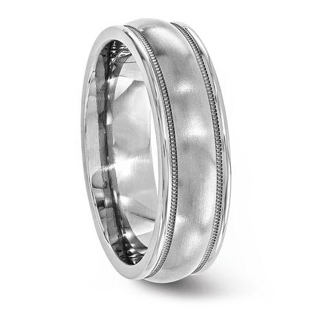 Classic Titanium Ring With Milgrained Edge