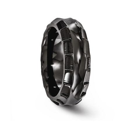TEMPLAR Black Titanium Ring 8mm by Edward Mirell