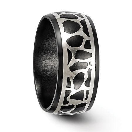 Edward Mirell Black Ti & Sterling Silver COBBLESTONE Ring