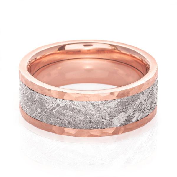 Rose Gold & Meteorite Wedding Band by Lashbrook