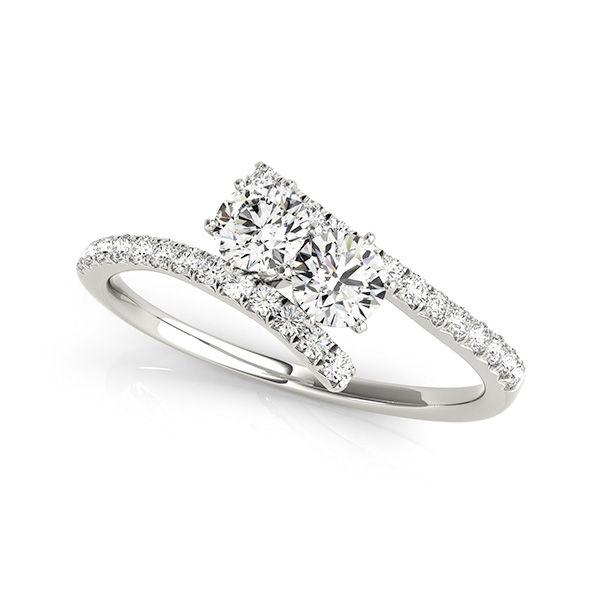 2 Stone Diamond Pave' Ring - Gorgeous 1ctw Two Stone Diamond Ring