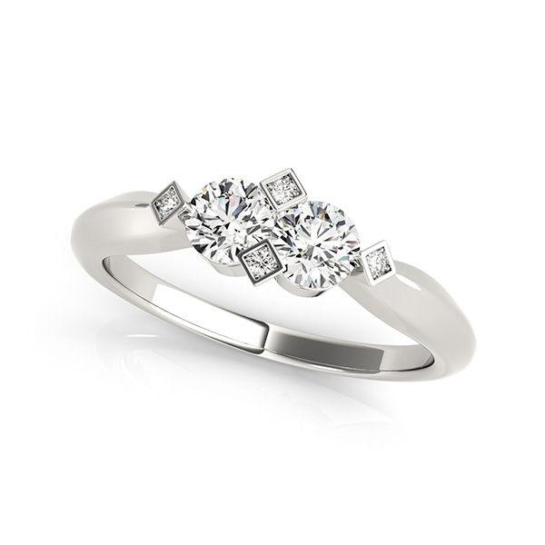 Two Stone Diamond Ring - Ever Us 2 Stone Diamond Rings
