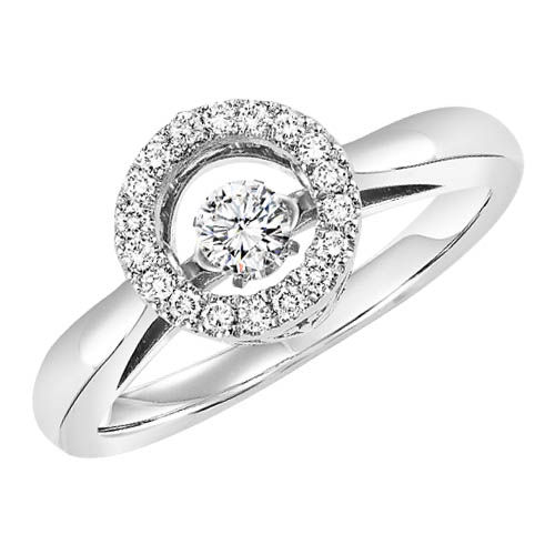 Rhythm of Love Diamond Halo Ring - Diamonds in Motion Ring