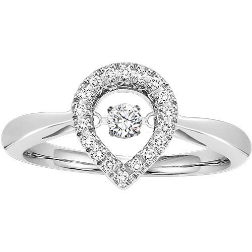 Pear Shaped Rhythm of Love Diamond Ring - Unstoppable Love Ring