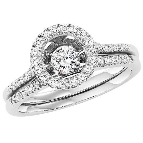 Rhythm of Love Diamond Engagement Ring - Diamonds in Motion Ring