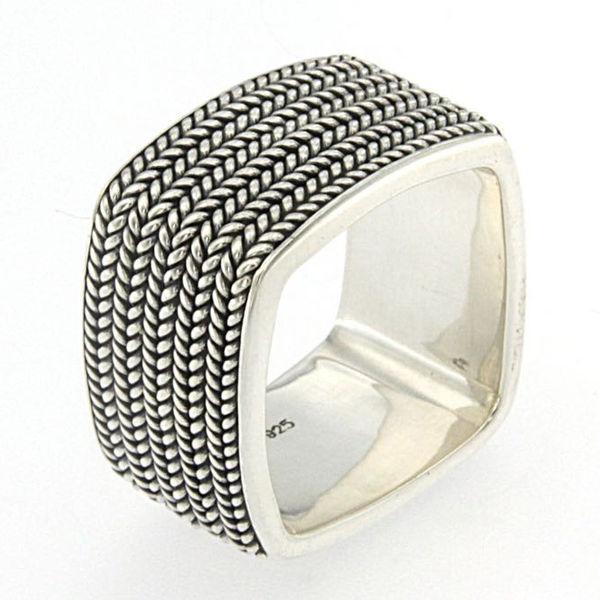 Samuel B Braided Rope Sterling Silver Ring