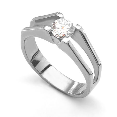 STRATO Titanium Tension Set Diamond Ring
