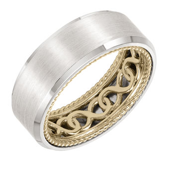 ArtCarved Inside and Out Mans Wedding Band - 11-WV01