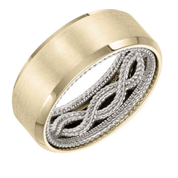 ArtCarved Inside and Out Mans Wedding Band - 11-WV04