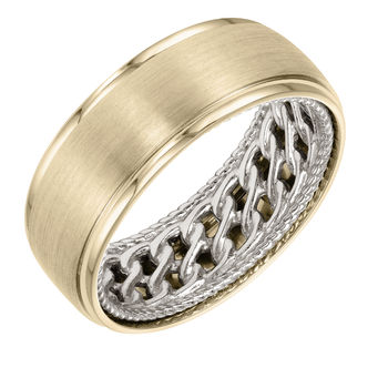ArtCarved Inside and Out Mans Wedding Band - 11-WV07