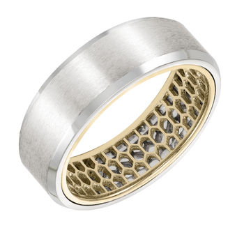 ArtCarved Inside and Out Mans Wedding Band - 11-WV09