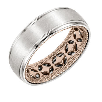 ArtCarved Inside and Out Mans Wedding Band - 11-WV12