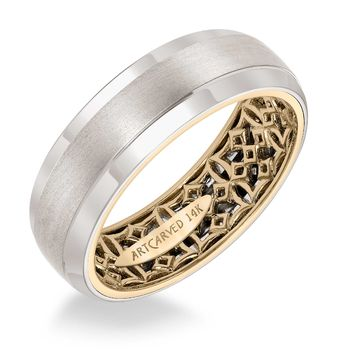ArtCarved Inside and Out Mans Wedding Band - 11-WV14