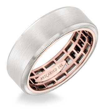 ArtCarved Inside and Out Mans Wedding Band - 11-WV15