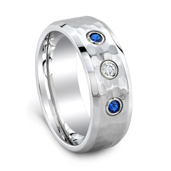 Design Your Own Ring: Customizable Mens 3 Stone Ring