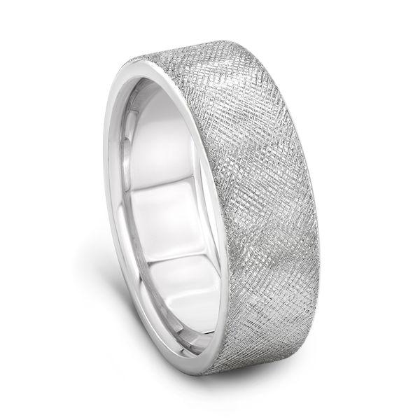 PALLADIUM WEDDING BAND 7mm - Textured Palladium Mans Wedding Band