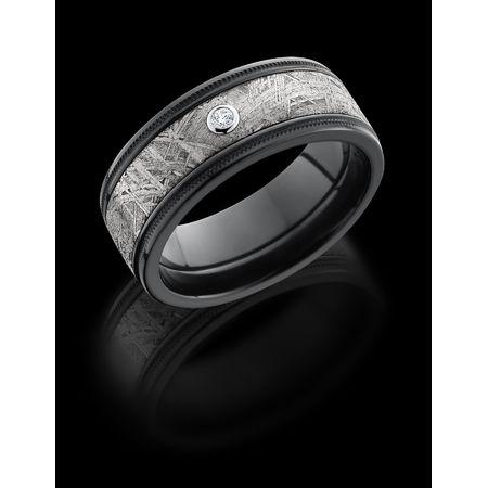 Meteorite & Zirconium Diamond Ring -  Vesta by Lashbrook