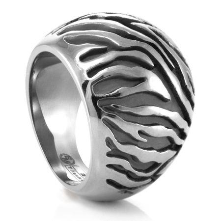 SAFARI Grey Titanium Domed Band