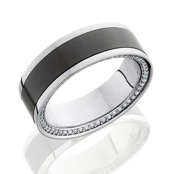 ETERNITY Platinum Diamond and ELYSIUM Eternity Wedding Band by Elysium