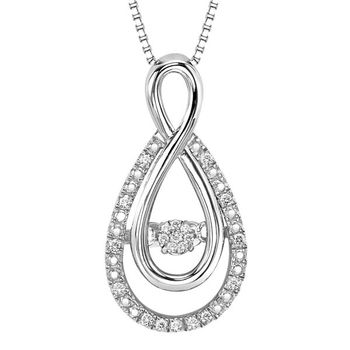 Rhythm of Love Sterling and Diamond Necklace - Infinity Design