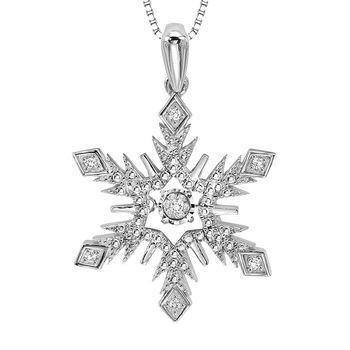 Rhythm of Love Snowflake Pendant - Diamond Cluster Snowflake