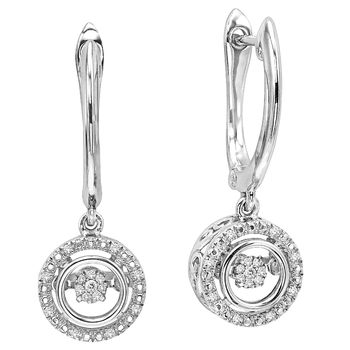 Rhythm of Love Diamond Earrings - Silver & Diamond Earrings