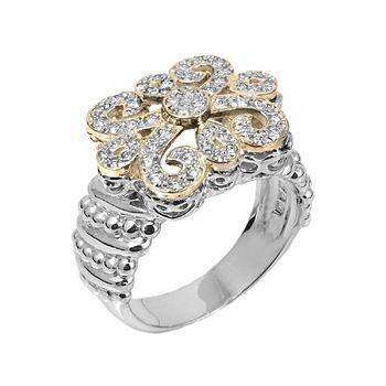 Fleur de Lys Diamond Ring – Alwand Vahan 14K Gold & Fleur De Lys Ring