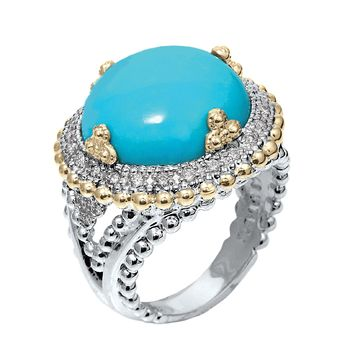 Gorgeous Alwand Vahan Turquoise & Diamond Ring - OOOH, LA, LA!