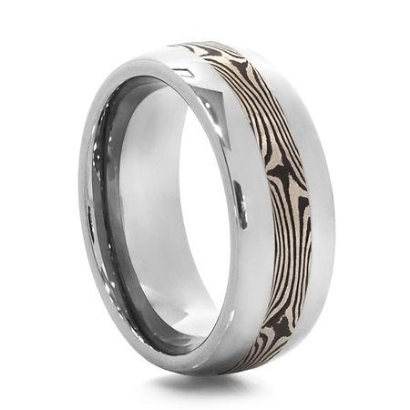 DOBRADO Tungsten Mokume Gane Ring