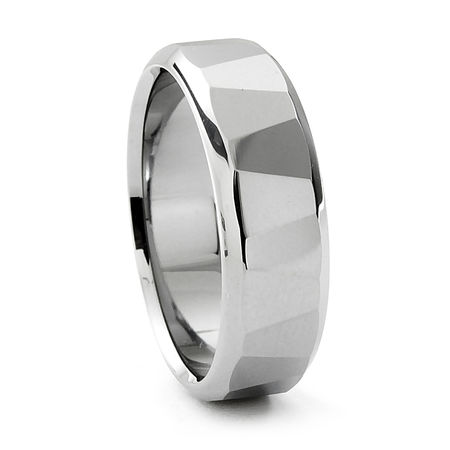 TRAPEZOID Tungsten Ring by Heavy Stone Rings